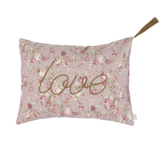 Cushion Cover Message Popeline Cotton 30x40 cm Love Low Def