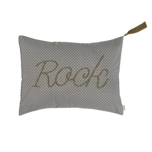 Cushion Cover Message Popeline Cotton 30x40 cm Rock Low Def