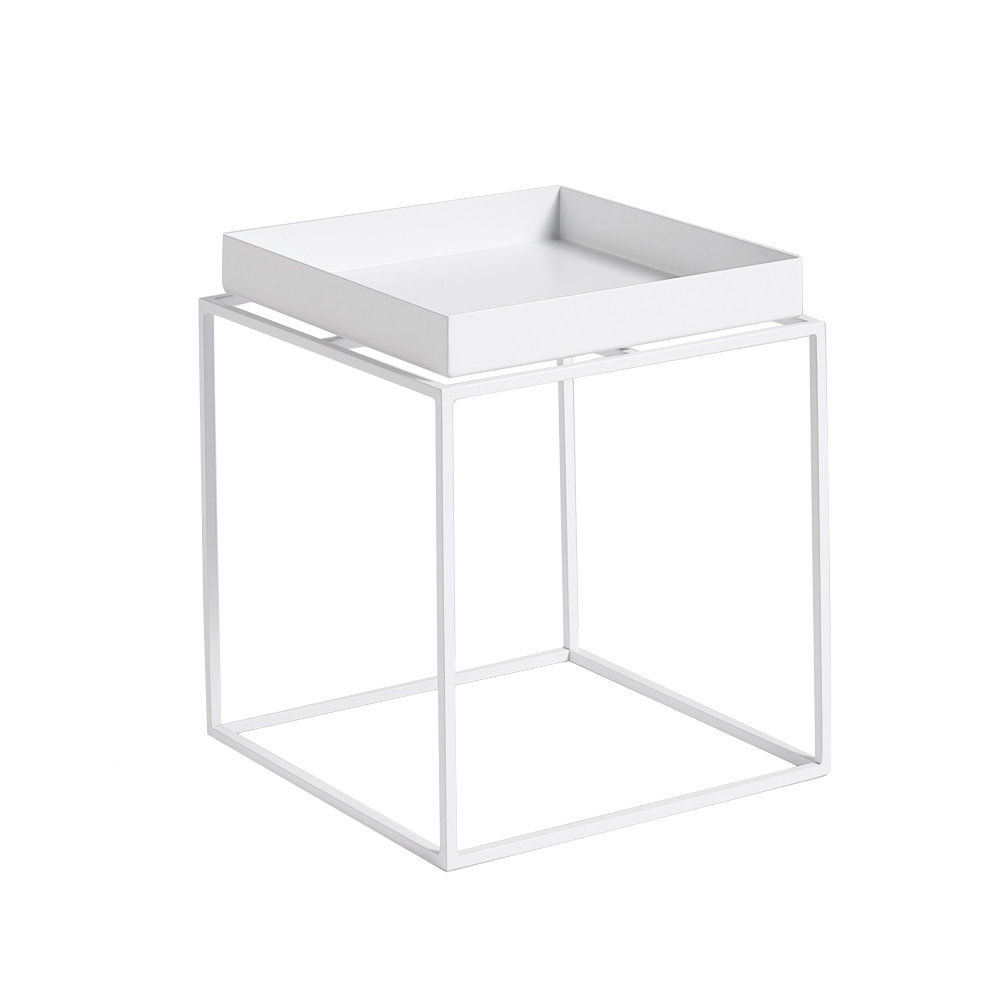 leo bella hay tray table white small. Black Bedroom Furniture Sets. Home Design Ideas