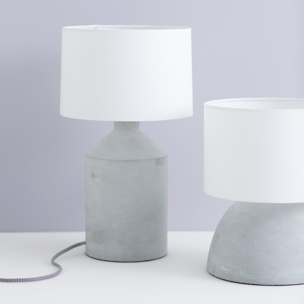 Louella Concrete Table Lamp And Shade By Horsfall Wright 900x900 Leo
