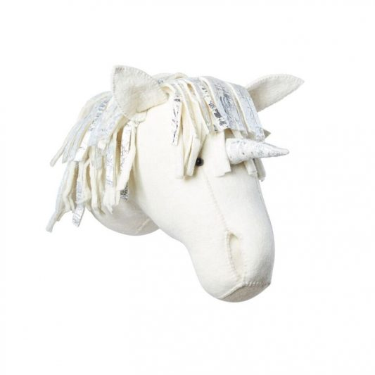 Semi Silver Unicorn Head 2