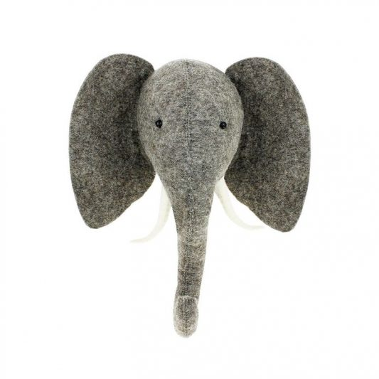 Semi Trunk Up Elephant HEad 4