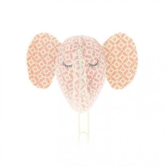 Sleepy Pink Elephant Hook