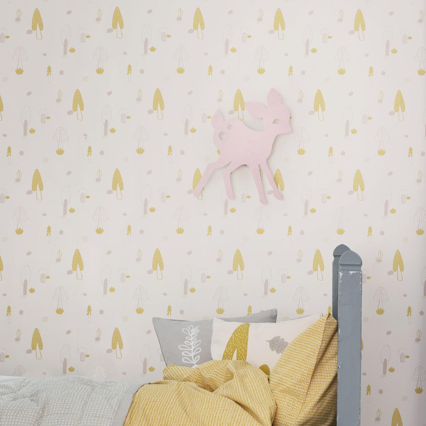 Ferm Living Wallpaper Leo Bella Ferm LIVING Wall Paper Forest Rose