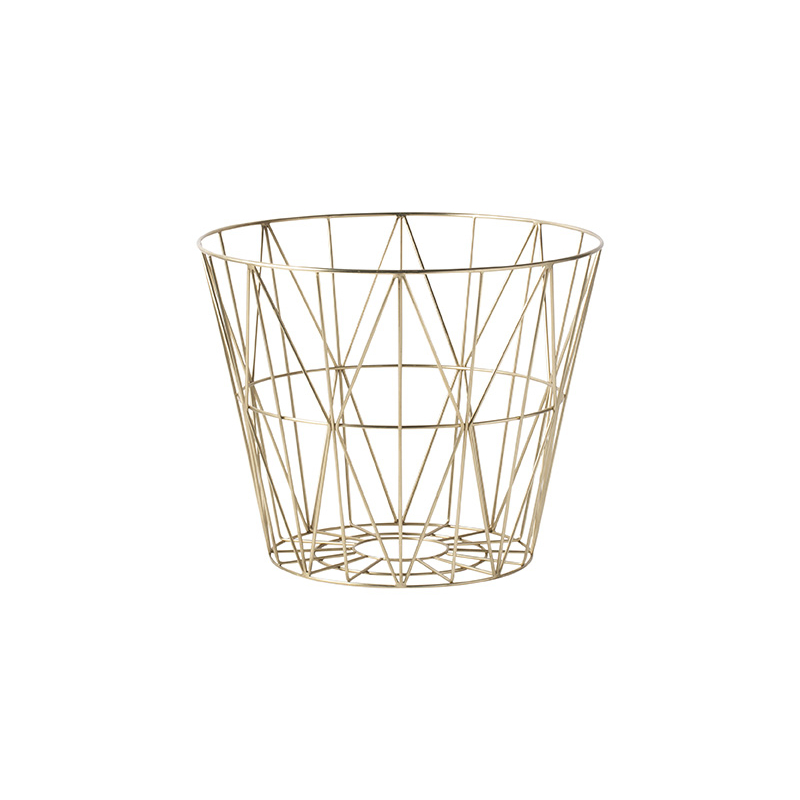 leo bella ferm living wire basket brass small. Black Bedroom Furniture Sets. Home Design Ideas