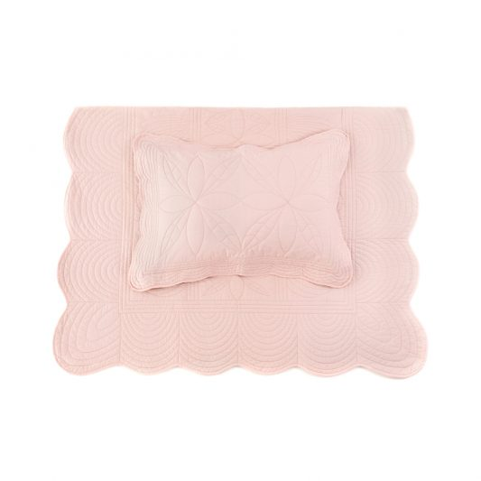 bonne-mere-single-quilt-and-pillow-set-shell-pink