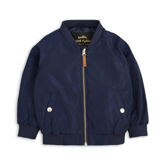 1711011067 mini rodini frog baseball jacket navy 1