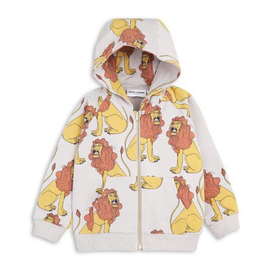 1712014896 mini rodini lion zip hood light grey 1