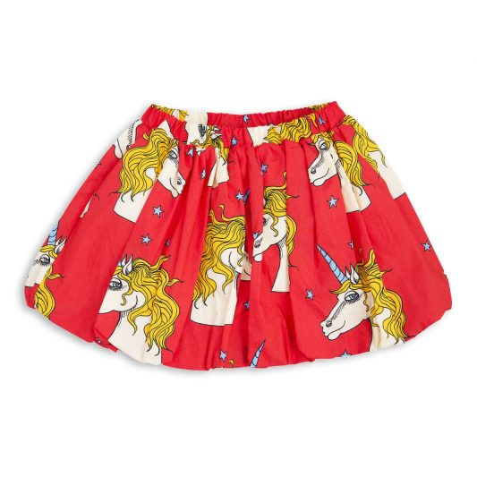 1713011242 mini rodini unicorn star woven skirt red 1