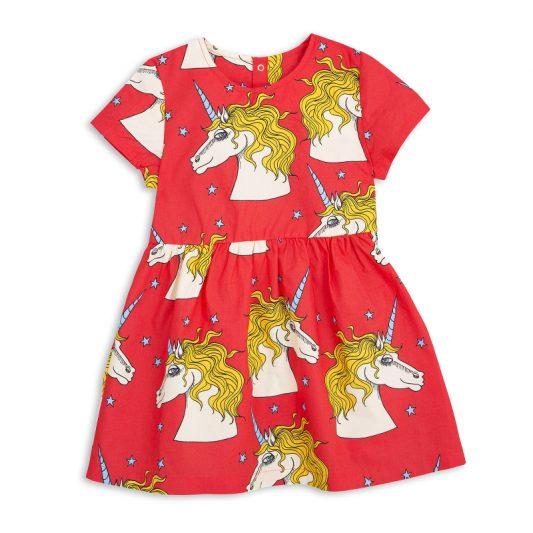 1715011342 mini rodini unicorn star woven dress red 1