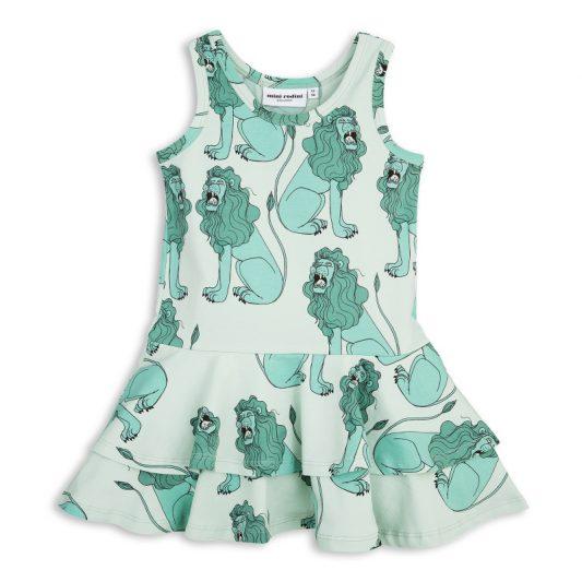 1715013573 mini rodini lion frill dress light green 1