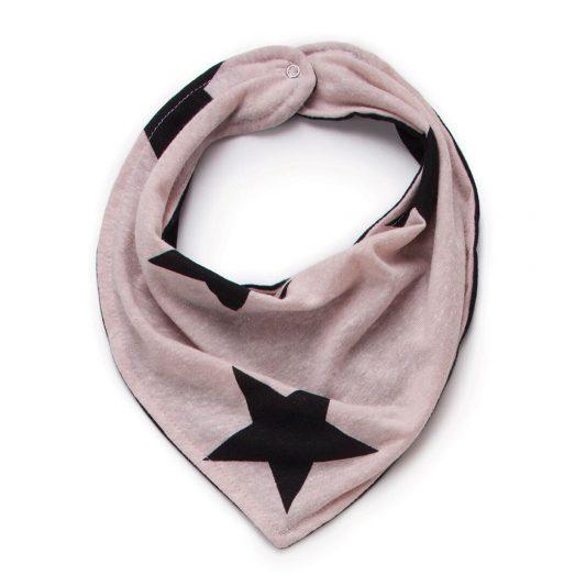 powder pink bib stars