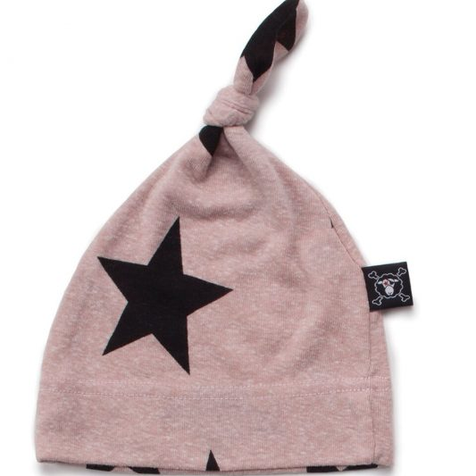 powder pink star hat
