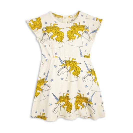 1715014011 1 mini rodini unicorn star wing dress off white