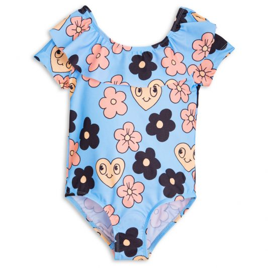 1718010150 1 mini rodini flower ss swimsuit light blue