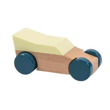 wooden racer car yellow