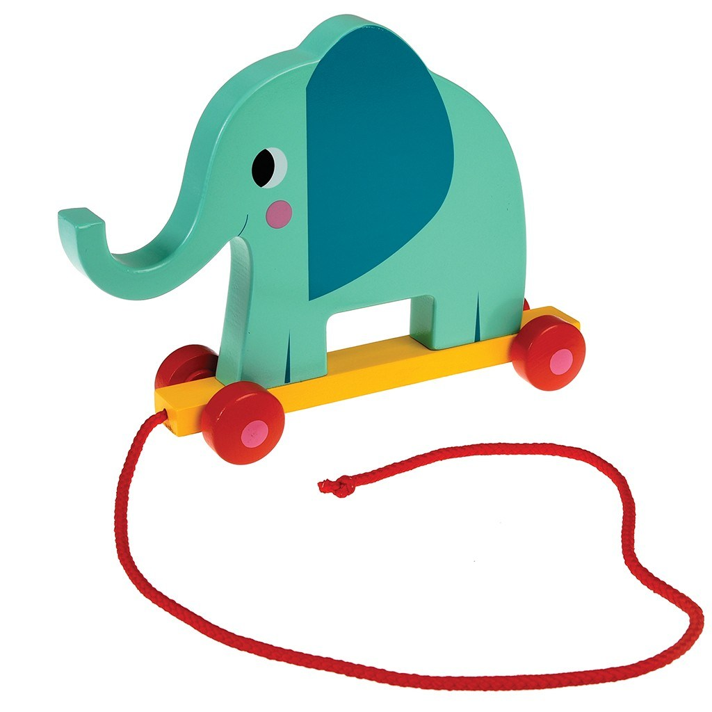 Toys For Elephant : Leo bella rex wooden pull along toy elephant
