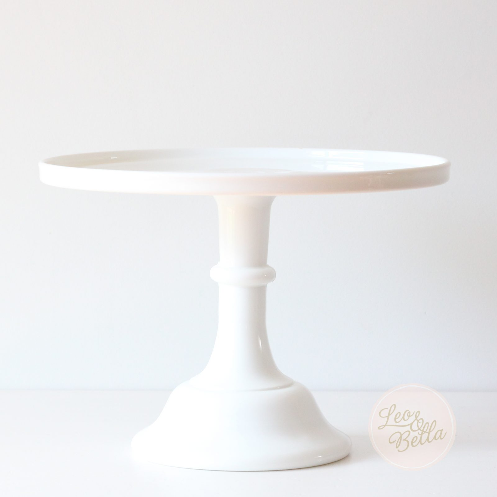 Tall Milk Glass Cake Stand