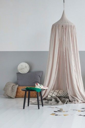 leo bella numero 74 cotton canopy single light pink powder. Black Bedroom Furniture Sets. Home Design Ideas