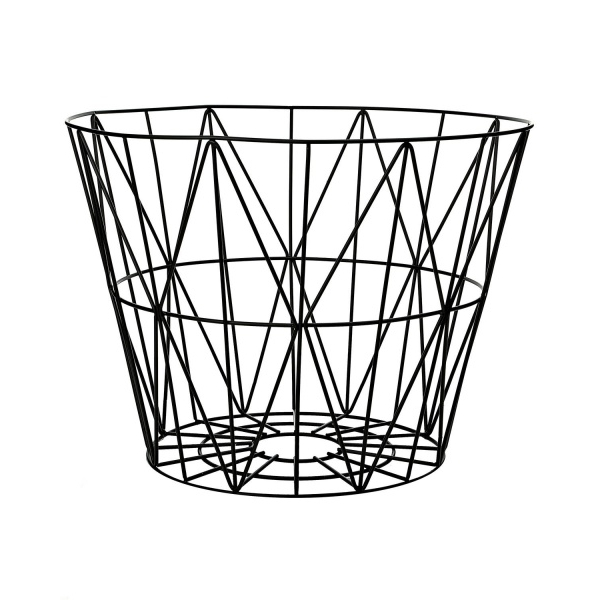 leo bella ferm living wire basket black large. Black Bedroom Furniture Sets. Home Design Ideas