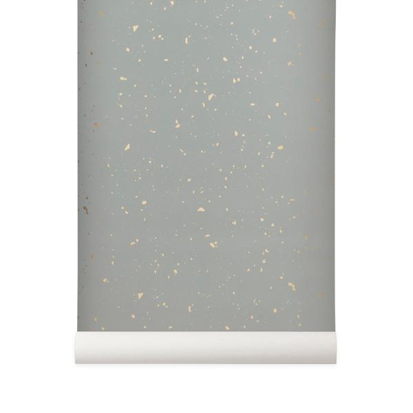 ferm living tapet Leo & Bella   ferm LIVING Wall Paper Confetti Grey ferm living tapet