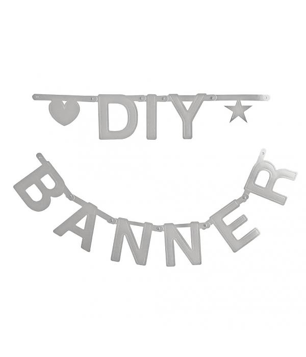 Diy Wedding Word Banners: Omm Design DIY Make Your Own Word Banner Silver
