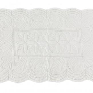 e1c9ef283b Bonne Mere Scalloped Quilt   Pillow Set Mist Single