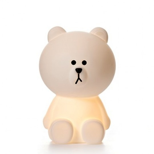 Leo Amp Bella Mr Maria Line Friends Brown White Bear Lamp