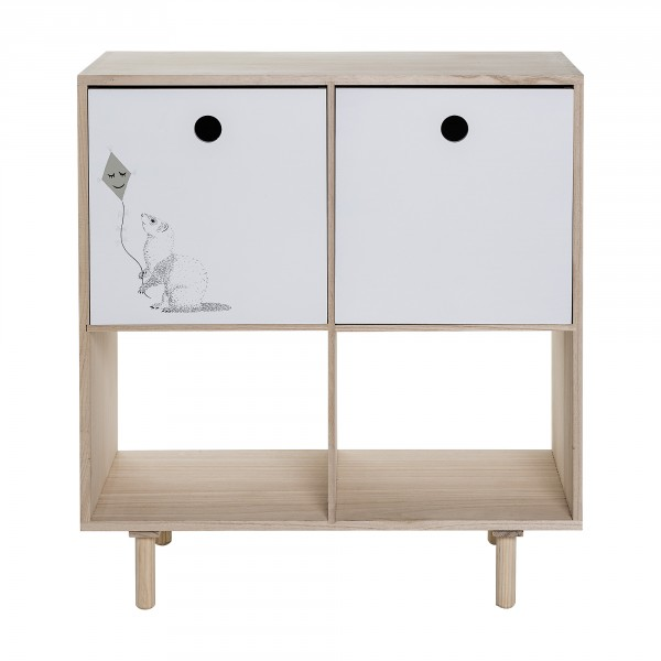 Oppdatert Bloomingville Mini Bookcase Natural / White Compartments – Leo & Bella QK-07