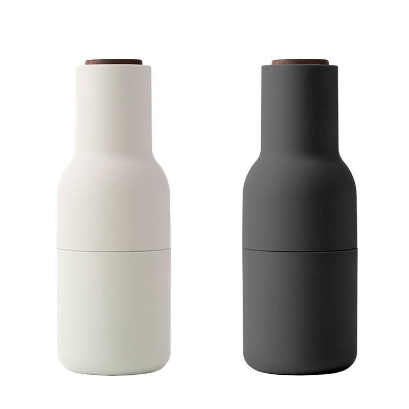 leo bella menu bottle grinder set of 2 ash carbon with. Black Bedroom Furniture Sets. Home Design Ideas